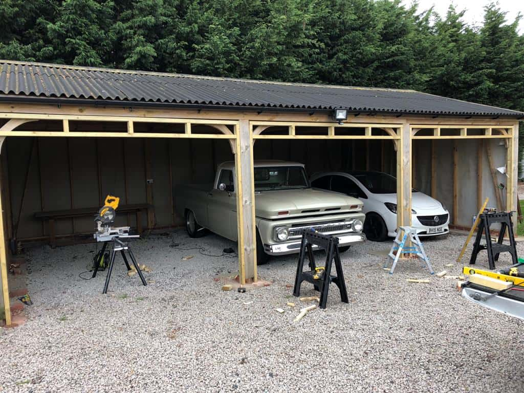 Bespoke Doors Fitted to Car Port in Leamington