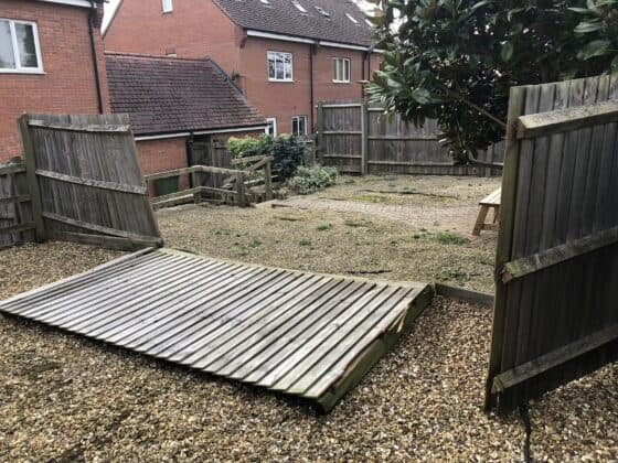 New Fence In Leamington Before