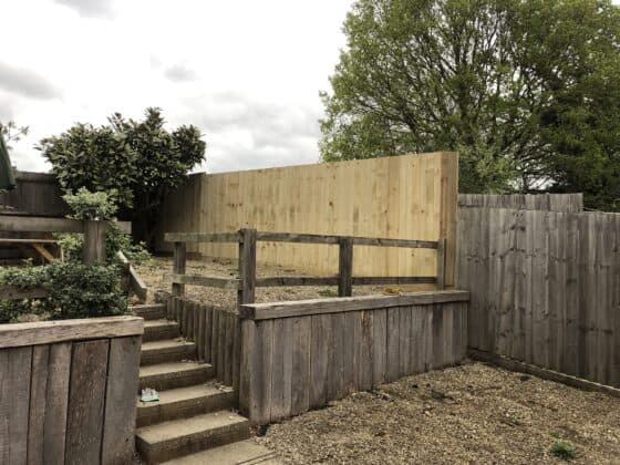 New Fence In Leamington After 2