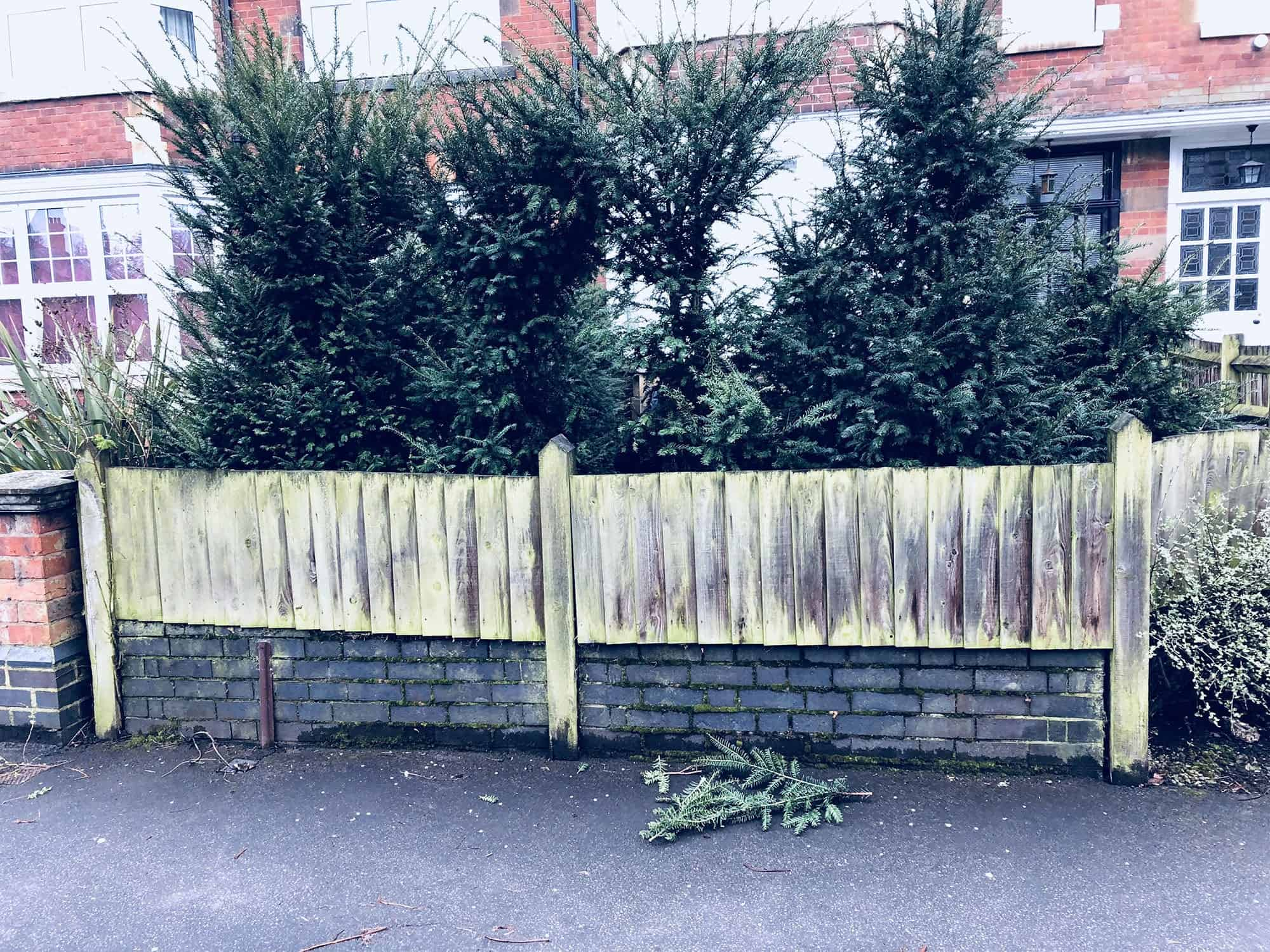 Replacing a Curved Fence in Leamington