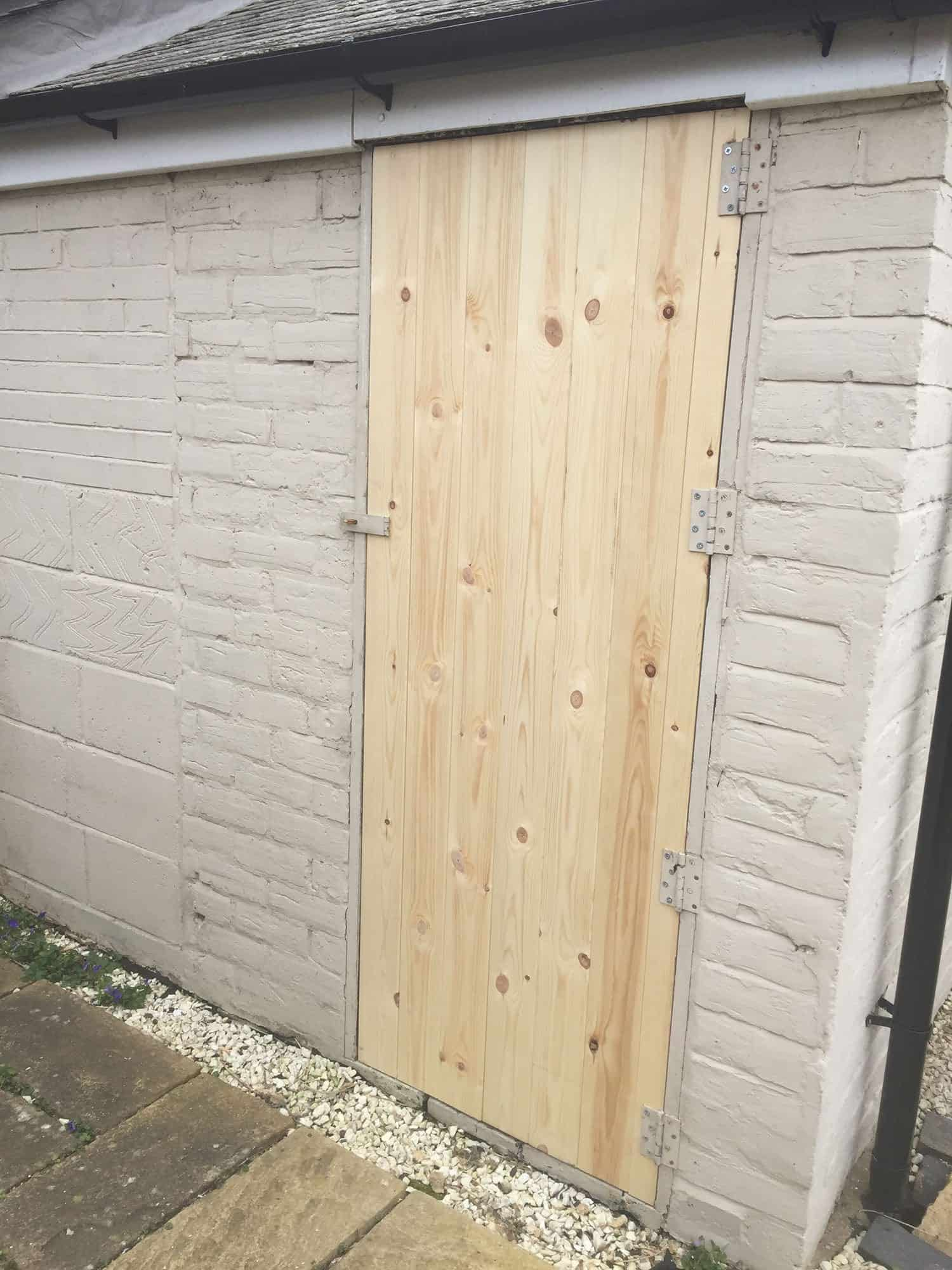New Custom Door Made & Fitted to Outhouse