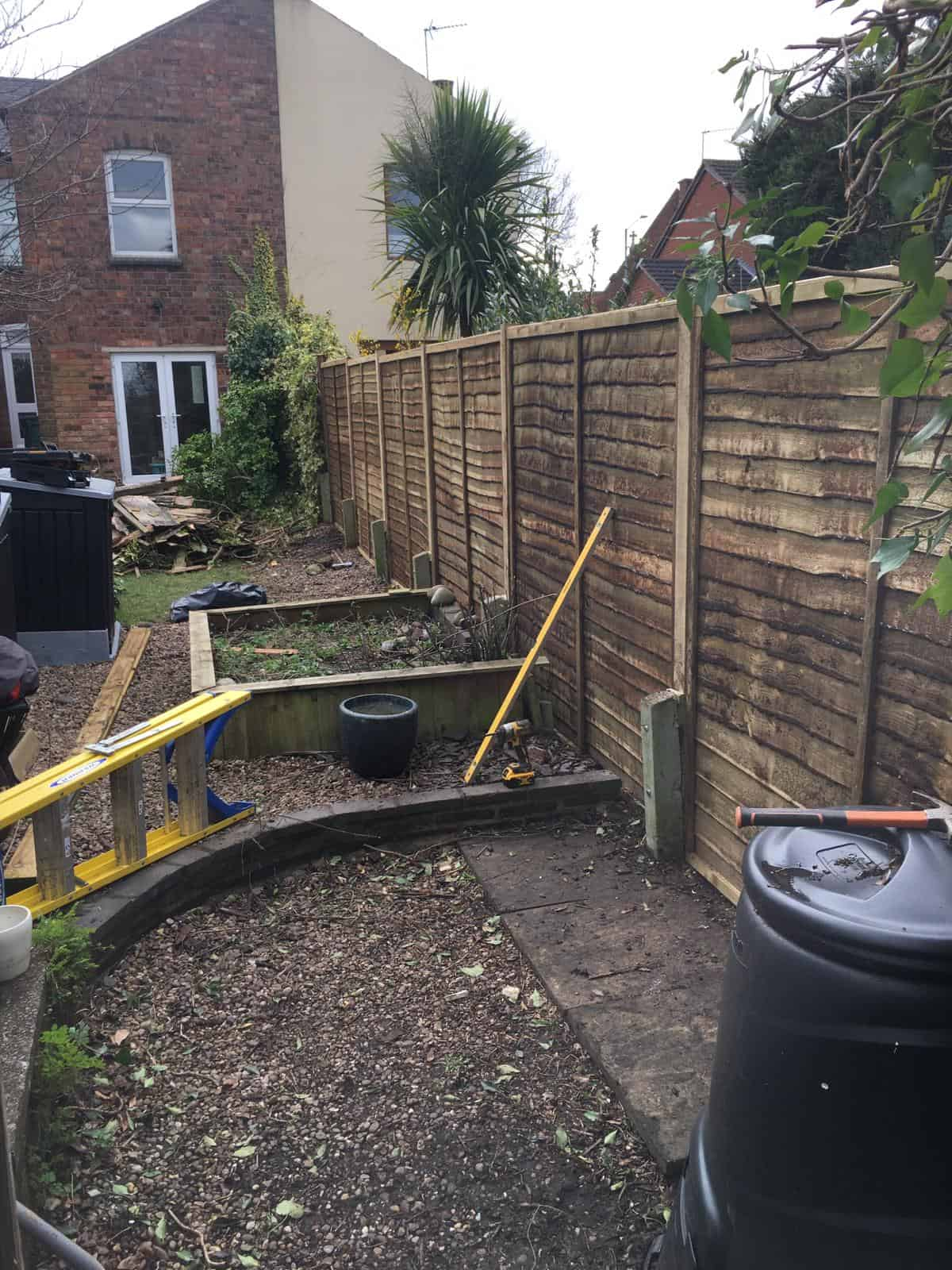 New Fence Panels After