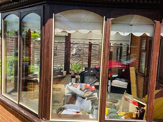 Conservatory Window After