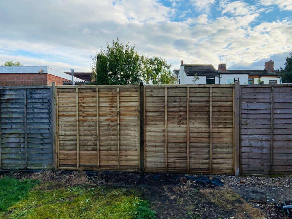 New Fence Panels And Posts