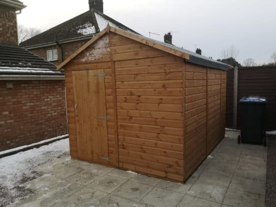 New Shed & Patio