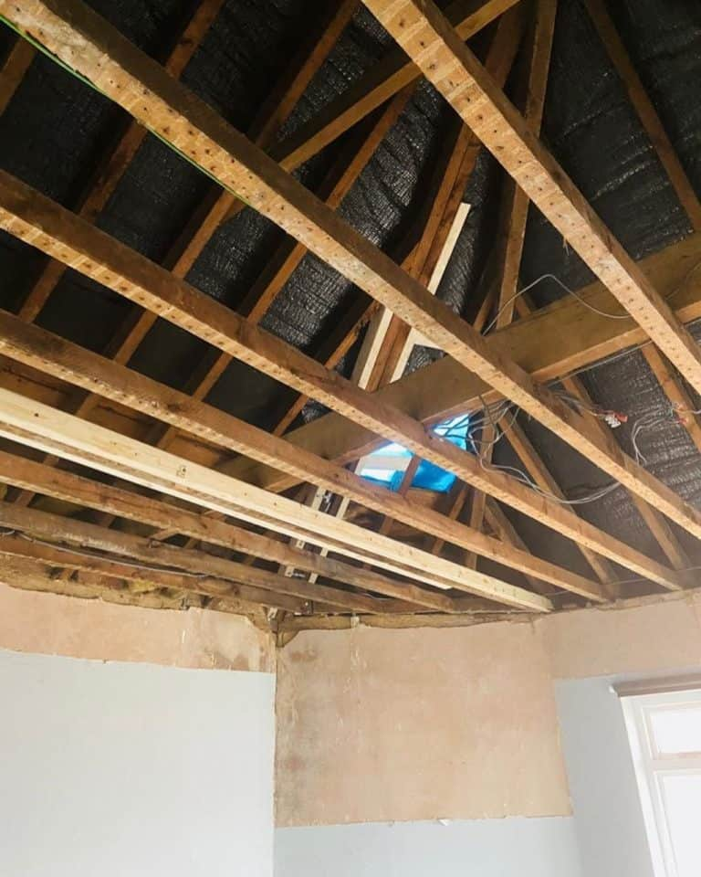 new joists and ceiling 1